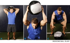 picture of man using a medicine ball