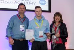 Picture of Stephen Mills accepting his award at Loughborough